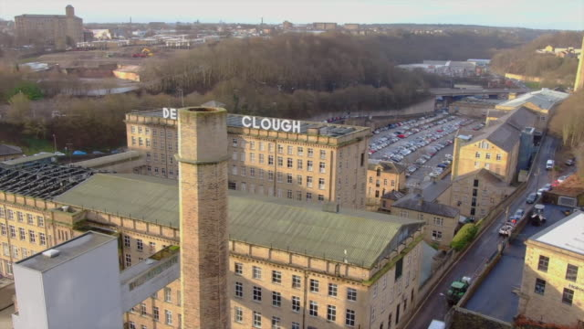 views of the renovated dean clough mill - factory stock videos & royalty-free footage