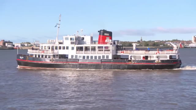 views of the river mersey - passenger ship stock videos & royalty-free footage