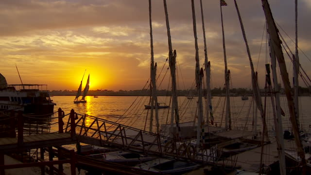 views of the river nile at sunset - cairo stock videos & royalty-free footage