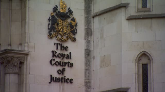 views of the royal courts of justice - courthouse stock videos & royalty-free footage