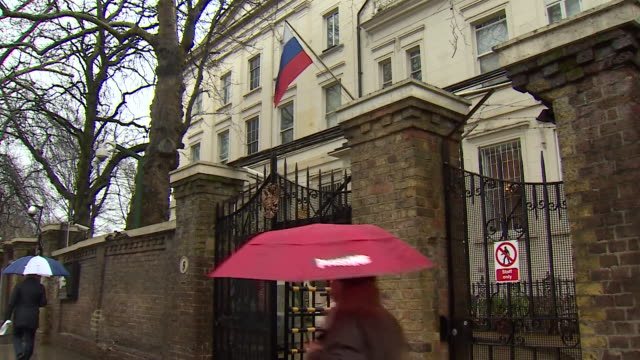 views of the russian embassy in london - embassy stock videos and b-roll footage