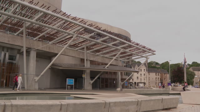 views of the scottish parliament building - women politics stock videos & royalty-free footage