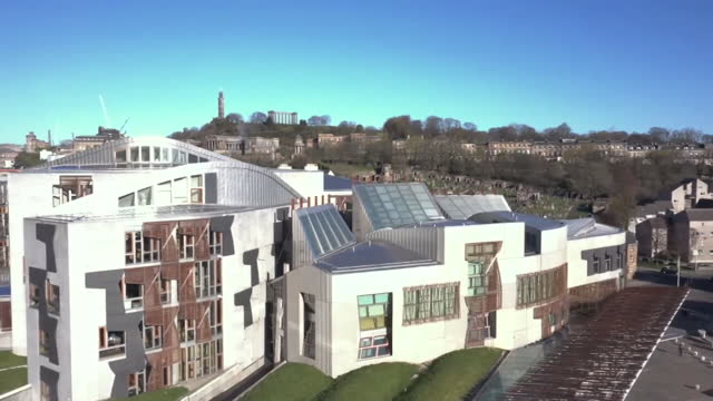 views of the scottish parliament building - symbol stock videos & royalty-free footage