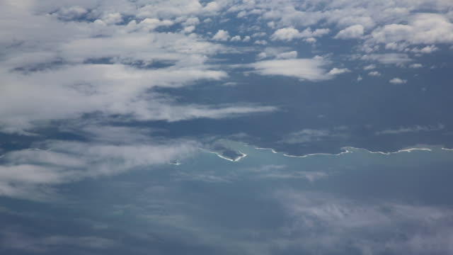 Views of the Solomon Islands from an airplane