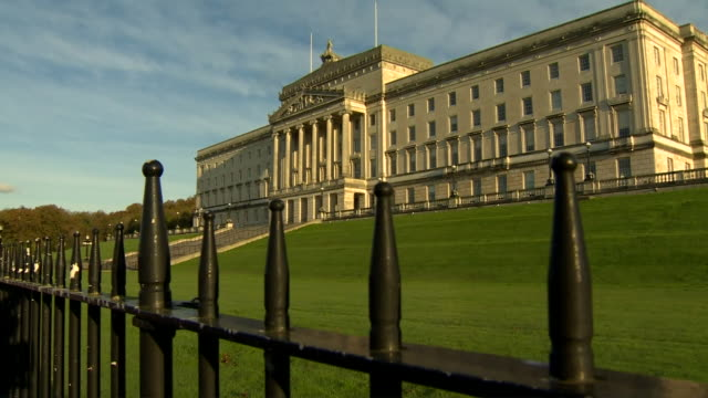 views of the stormont building - belfast stock videos & royalty-free footage