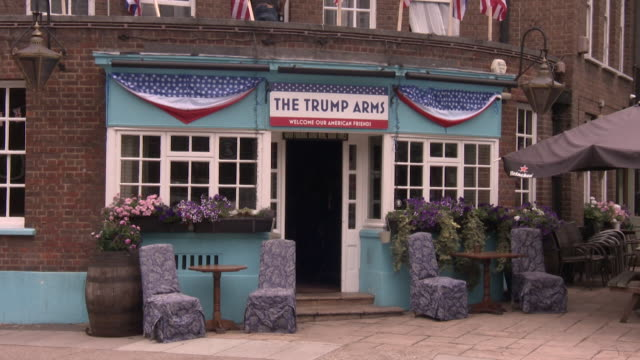 Views of 'The Trump Arms' pub in Hammersmith renamed to welcome Donald Trump on his first visit to the UK as President