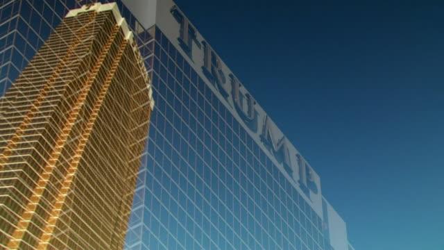 views of the trump international hotel in las vegas - casino stock videos & royalty-free footage
