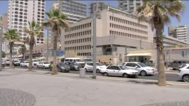 views of the united states embassy in tel aviv israel - embassy stock videos and b-roll footage