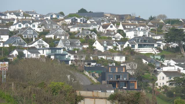 views of the village of carbis bay. the location of the 2021 g7 summit. a small village in cornwall, in the far south west of the uk, it's choice... - produced segment stock videos & royalty-free footage