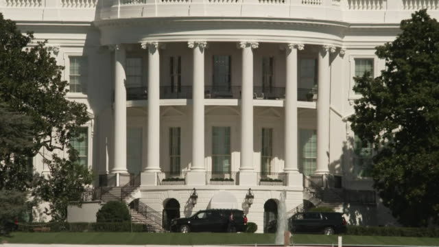 views of the white house - national flag stock videos & royalty-free footage