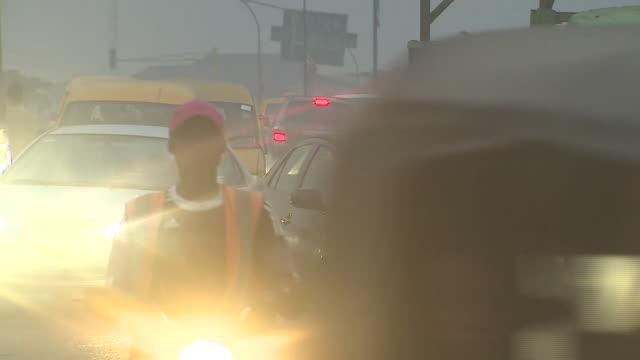 Views of traffic in Lagos Nigeria