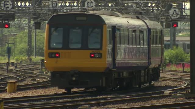 Views of trains in Leeds