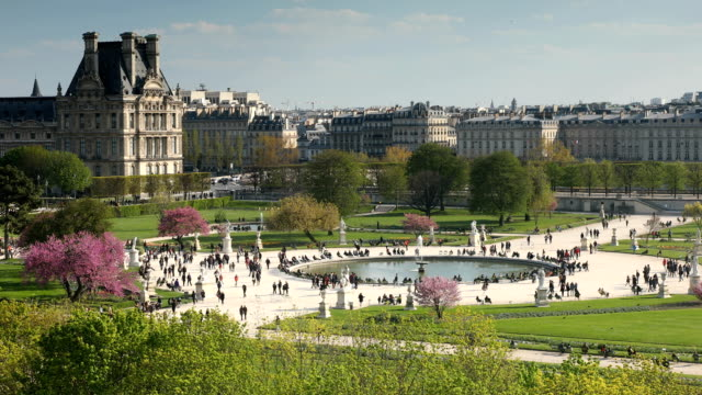 views of tuileries paris - surface level stock videos & royalty-free footage