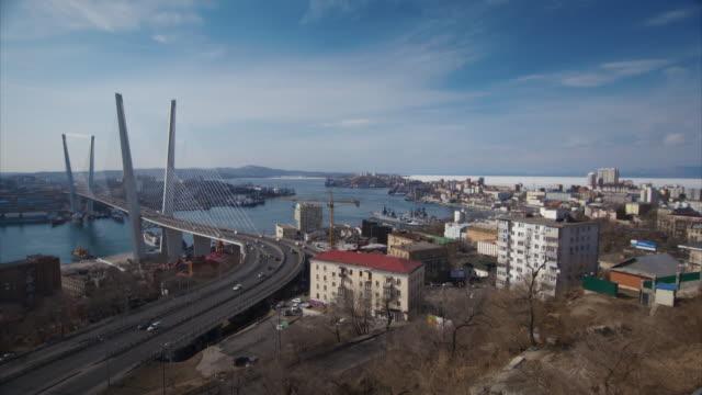 views of vladivostok, russia - smoke stack stock videos & royalty-free footage