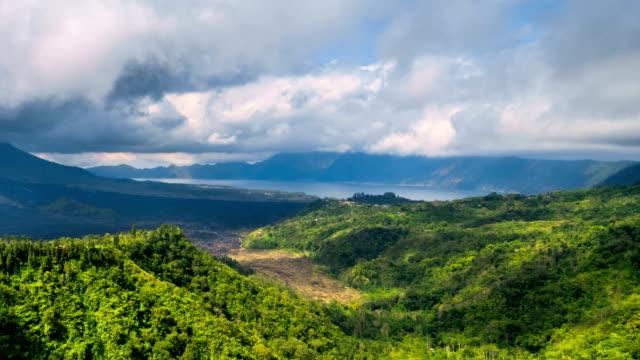 Views of volcano Gunung Batur