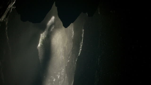 Views of water falling inside Gaping Gill