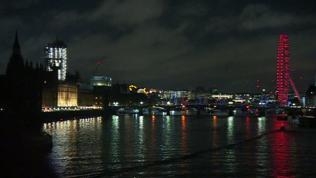 views of westminster at night - politics stock videos & royalty-free footage