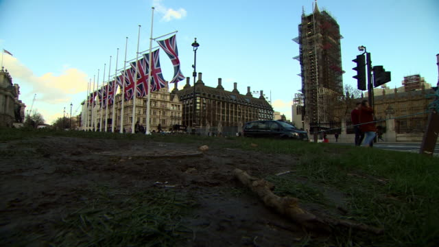 views of westminster the morning after 'brexit day' celebrations - lawn stock videos & royalty-free footage