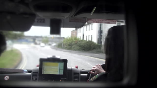 views on board an ambulance - belfast stock videos & royalty-free footage