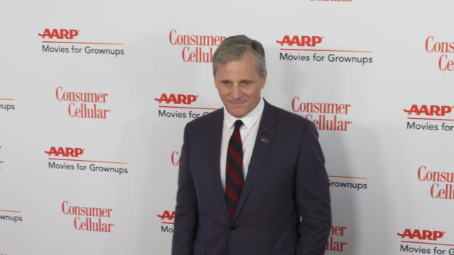 viggo mortensen at the 18th annual movies for grownups awards at the beverly wilshire four seasons hotel on february 04, 2019 in beverly hills,... - フォーシーズンズホテル点の映像素材/bロール