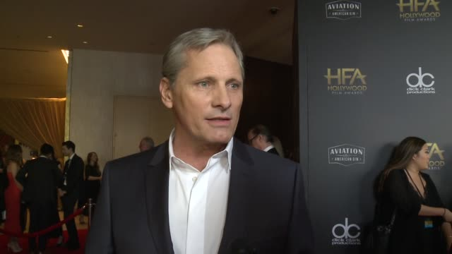 INTERVIEW Viggo Mortensen on the most exciting aspects of the Hollywood Filma Awards at the 22nd Annual Hollywood Film Awards o at the 22nd Annual...