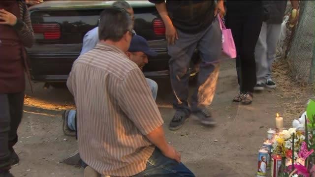 vigil for 3 girls killed by carol coronado - postpartum depression stock videos & royalty-free footage