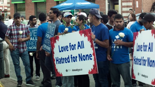 vigil for the victims of the july 23 shooting in toronto's greektown / danforth - violence stock videos & royalty-free footage