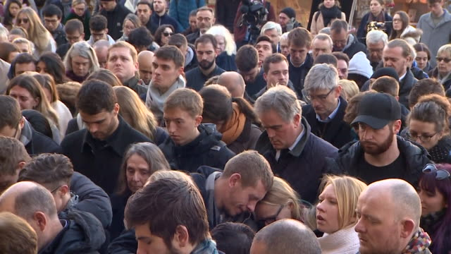 vigil in cambridge city centre remembering victims of the london bridge terror attack, saskia jones and jack merritt - prisoner education stock videos & royalty-free footage