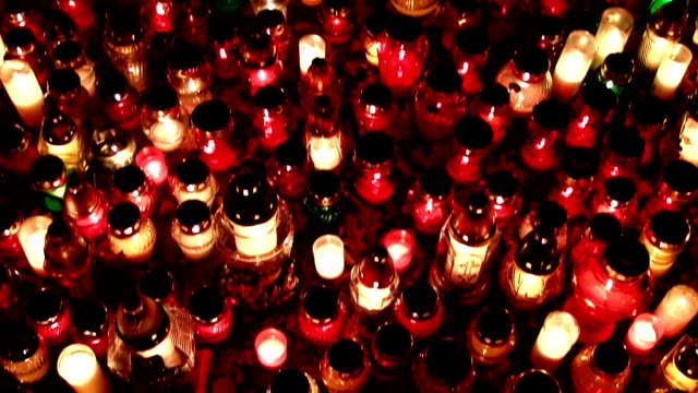 vigil lights - candlelight stock videos and b-roll footage