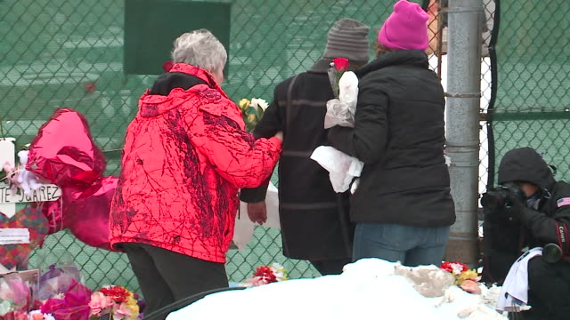wgn vigil on february 2019 for victims five victims were killed and six others wounded — including five police officers — in a shooting at an aurora... - religious equipment stock-videos und b-roll-filmmaterial