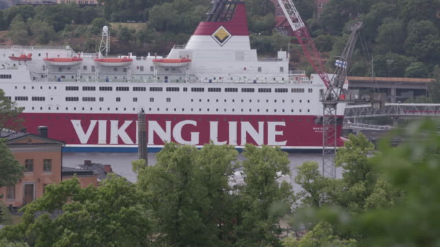 Viking Line ferry at port in Stockholm