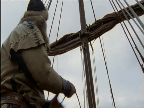 viking releases sail on long ship norway - viking stock videos and b-roll footage
