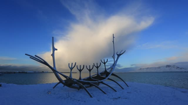 Viking ship, Sun Voyager, Reykjavik, Iceland,