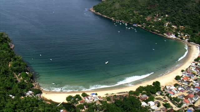 vila evangelica  - aerial view - rio de janeiro,angra dos reis,brazil - evangelicalism stock videos & royalty-free footage