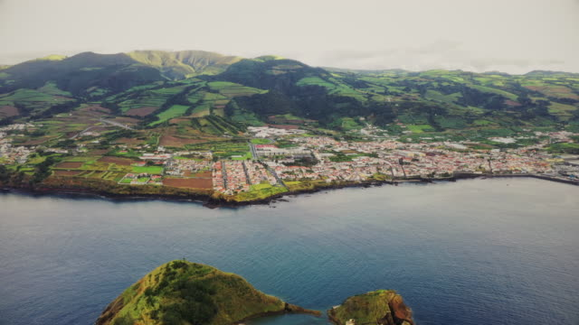 vila franca do campo and islet at sao miguel island, azores - atlantic islands stock videos & royalty-free footage