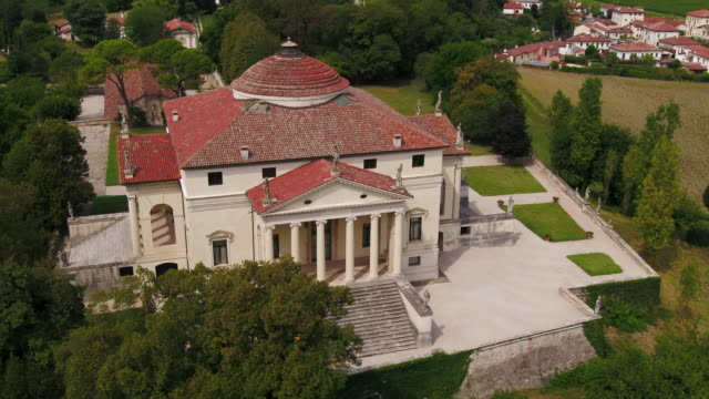 "villa capra ""la rotonda"" - mansion stock videos & royalty-free footage"
