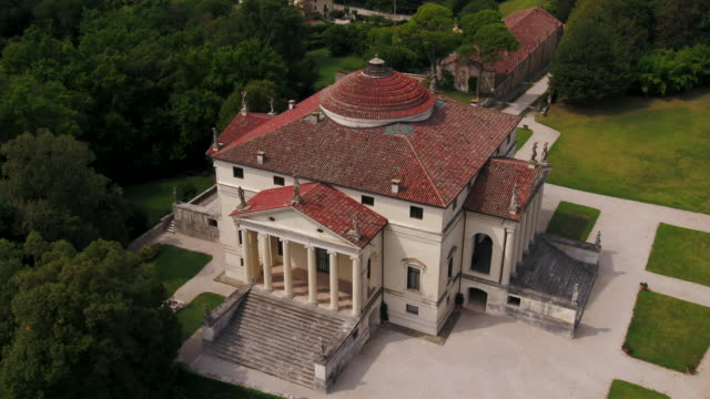 "villa capra ""la rotonda"" - stately home stock videos & royalty-free footage"