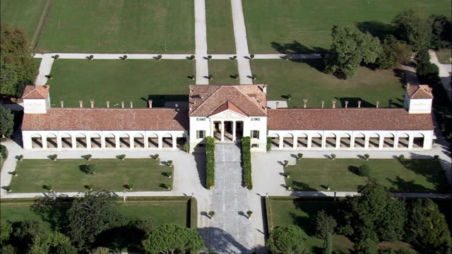 Villa Emo-Luftaufnahme-Veneto, Provincia di Treviso, Vedelago, Italien