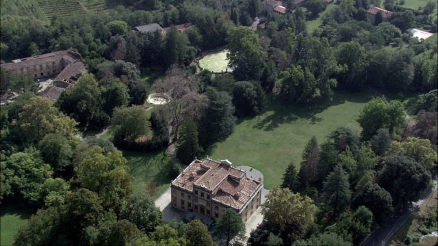 villa mansi  - aerial view - tuscany, provincia di lucca, capannori, italy - grounds stock videos & royalty-free footage