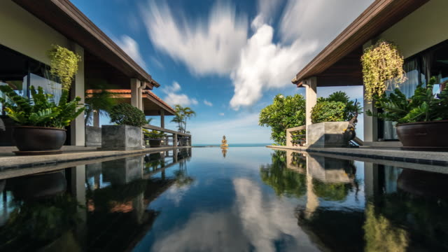 villa time lapse 4k - ko samui stock videos & royalty-free footage
