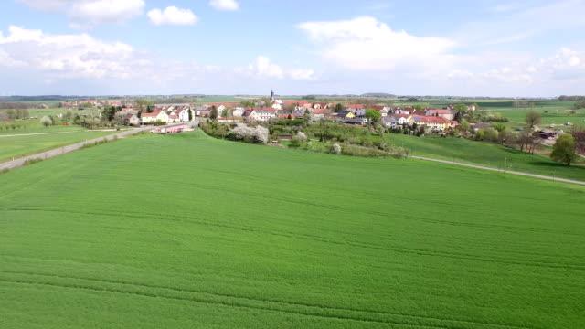 village aerial view - turingia video stock e b–roll