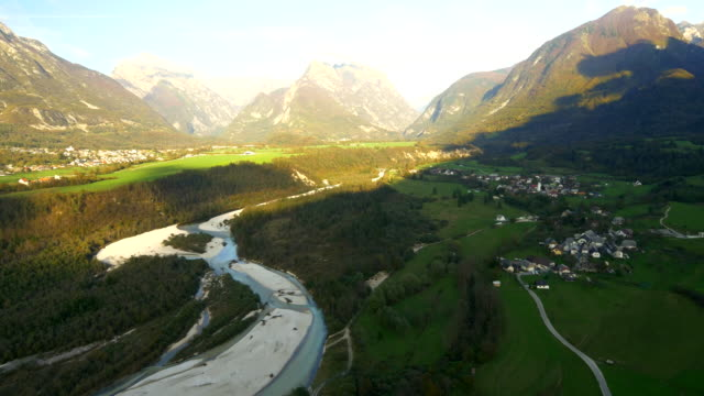 AERIAL Village By The Soca River