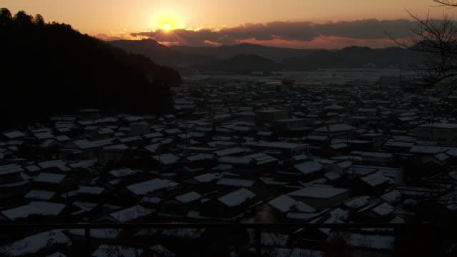 village called imadate-goka, fukui, japan - satoyama scenery stock videos & royalty-free footage