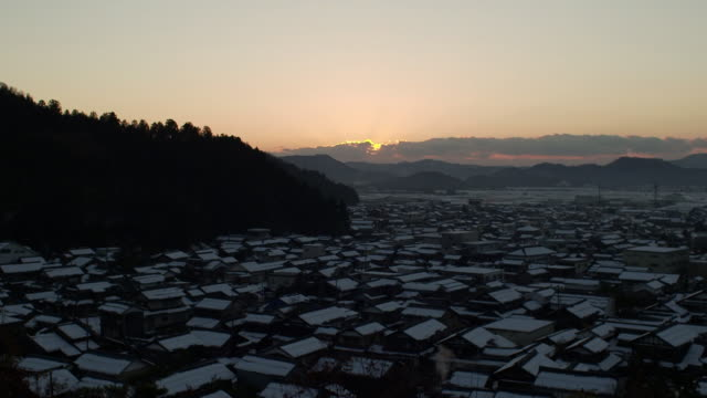village called imadate-goka, fukui, japan - 村点の映像素材/bロール