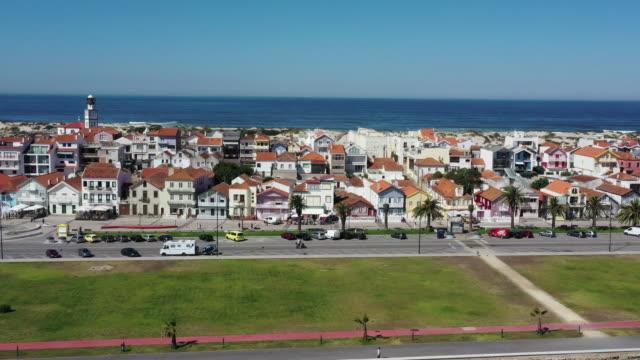 village in costa nova / aveiro, portugal - village stock videos & royalty-free footage