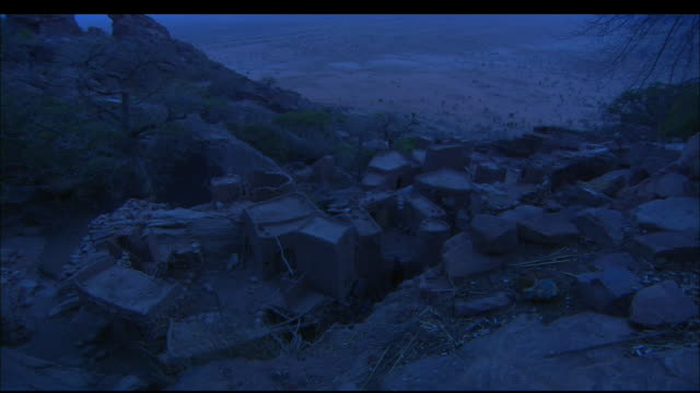 Village in Mali at night Available in HD.