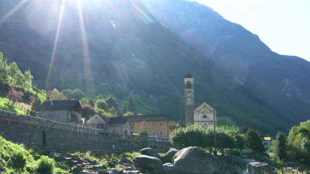 village in the swiss alps - ticino canton stock videos and b-roll footage