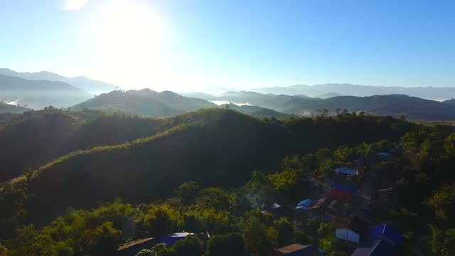 village in the valley. - air to air shot stock videos & royalty-free footage