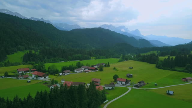 village in valley - werdenfelser land stock videos and b-roll footage