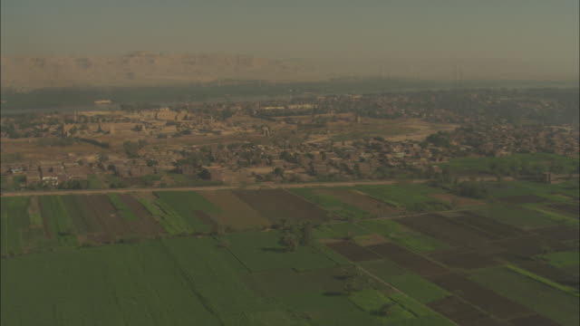 a village is surrounded by green agricultural fields in the egyptian nile delta. - village stock videos & royalty-free footage
